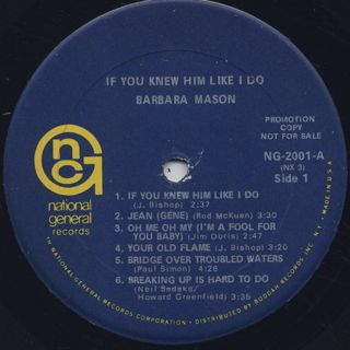 Barbara Mason / If You Knew Him Like I Do label