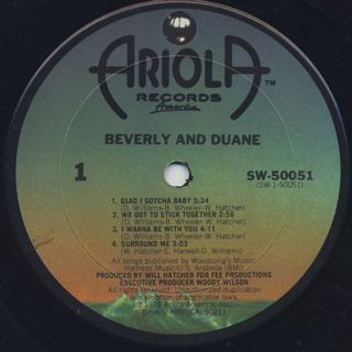 Beverly & Duane / S.T. label