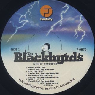 Blackbyrds / Night Grooves label