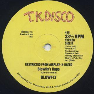Blowfly / Rapp Dirty label