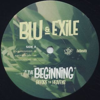 Blu & Exile / In The Beginning (Below The Heavens) label