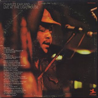 Charles Earland / Live At The Lighthouse back