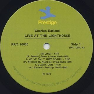 Charles Earland / Live At The Lighthouse label
