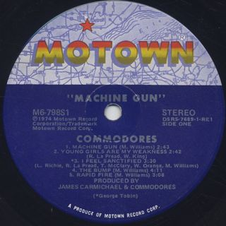 Commodores / Machine Gun label