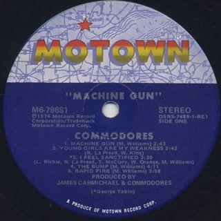 Commodores / Machine Gun (LP), Motown | 中古レコード通販 大阪 Root