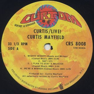 Curtis Mayfield / Live! label