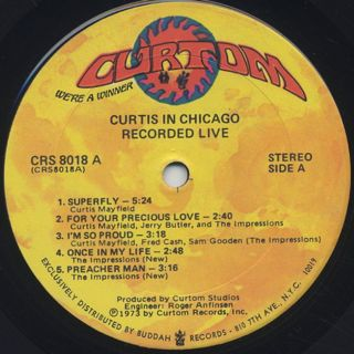 Curtis Mayfield / Recorded Live! label