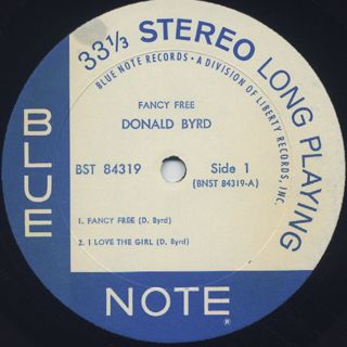 Donald Byrd / Fancy Free label