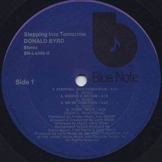 Donald Byrd / Stepping Into Tomorrow label