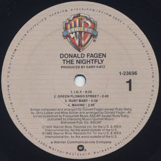 Donald Fagen / The Nightfly label