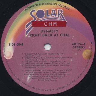 Dynasty / Right Back At Cha! label