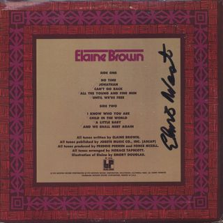 Elaine Brown / S.T. back