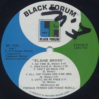 Elaine Brown / S.T. label