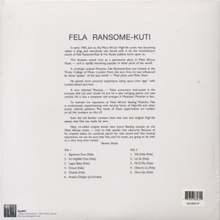 Fela Ransome Kuti And His Koola Lobitos / S.T. back