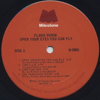 Flora Purim / Open Your Eyes You Can Fly label