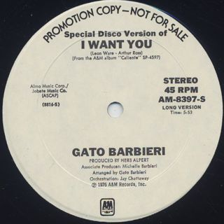 Gato Barbieri / I Want You (12
