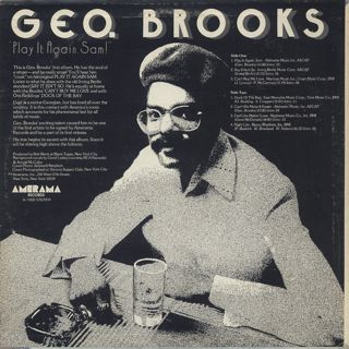 Geo. Brooks / Play It Again, Sam! back