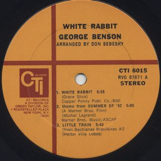 George Benson / White Rabbit label