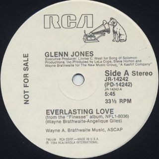 Glenn Jones / Everlasting Love back
