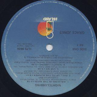 Grace Jones / Nightclubbing label