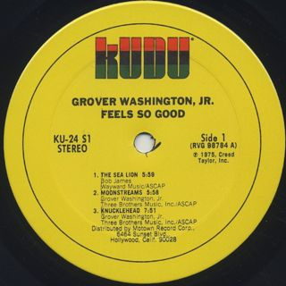 Grover Washington, Jr. / Feels So Good label