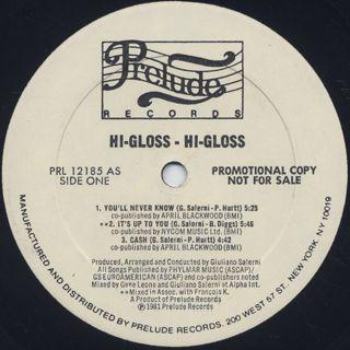 Hi-Gloss / S.T. label