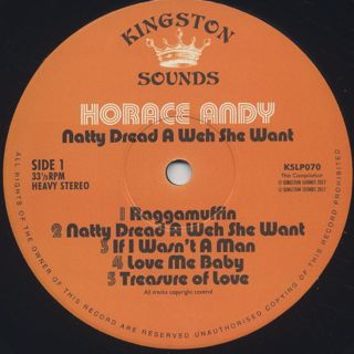 Horace Andy / Natty Dread A Weh She Want label