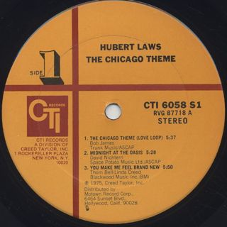 Hubert Laws / The Chicago Theme label