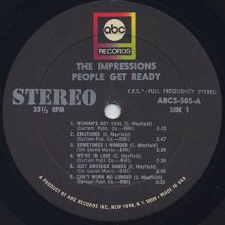 Impressions / People Get Ready label