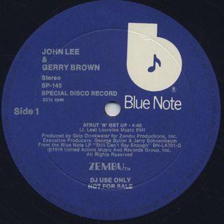 John Lee & Gerry Brown / Strut 'N' Get Up back