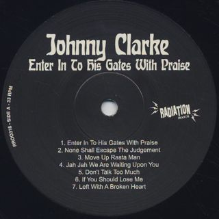 Johnny Clarke / Enter Into His Gates With Praise label