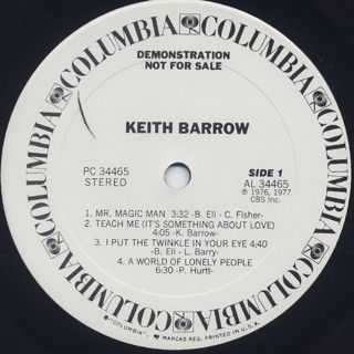 Keith Barrow / S.T. label