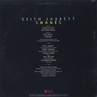 Keith Jarrett / Shades back