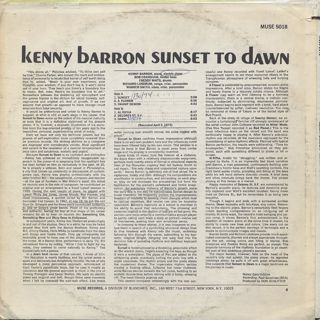 Kenny Barron / Sunset To Dawn back