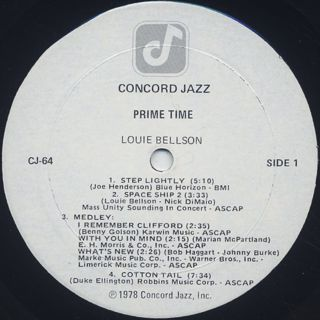 Louie Bellson / Prime Time label