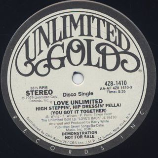 Love Unlimited / High Steppin' Hip Dressin' Fella (12