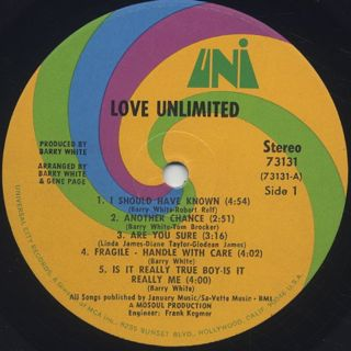 Love Unlimited / S.T. label