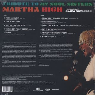 Martha High / Tribute To My Soul Sisters back