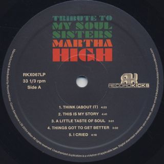 Martha High / Tribute To My Soul Sisters label