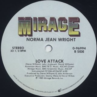 Norma Jean Wright / Love Attack label