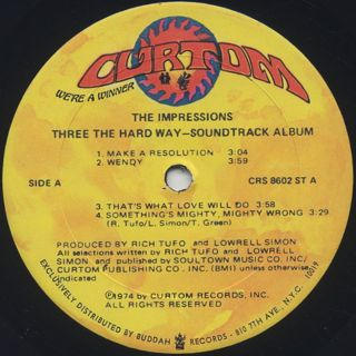 O.S.T.(The Impressions) / Three The Hard Way label