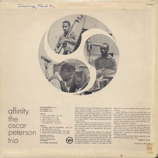 Oscar Peterson Trio / Affinity back