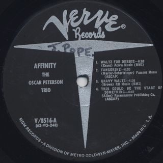 Oscar Peterson Trio / Affinity label