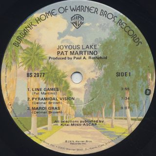 Pat Martino / Joyous Lake label