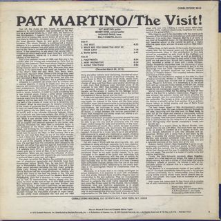 Pat Martino / The Visit! back