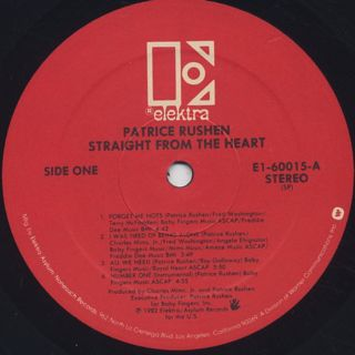 Patrice Rushen / Straight From The Heart label