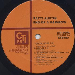 Patti Austin / End Of A Rainbow label
