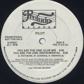 Pilot / You Are The One back