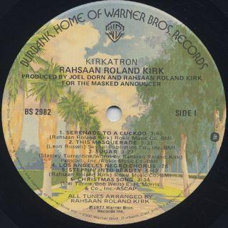 Rahsaan Roland Kirk / Kirkatron label