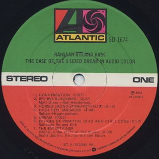 Rahsaan Roland Kirk / The Case Of The 3 Sided Dream In Audio Color label